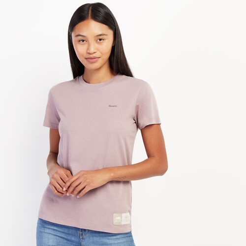 Roots-Women New Arrivals-Womens Micro Cooper T-shirt-Violet Clay-A