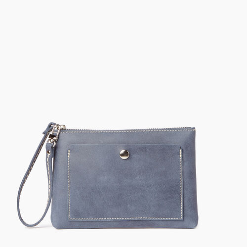 Roots-Leather  Handcrafted By Us Categories-Riverdale Pouch-Navy-A