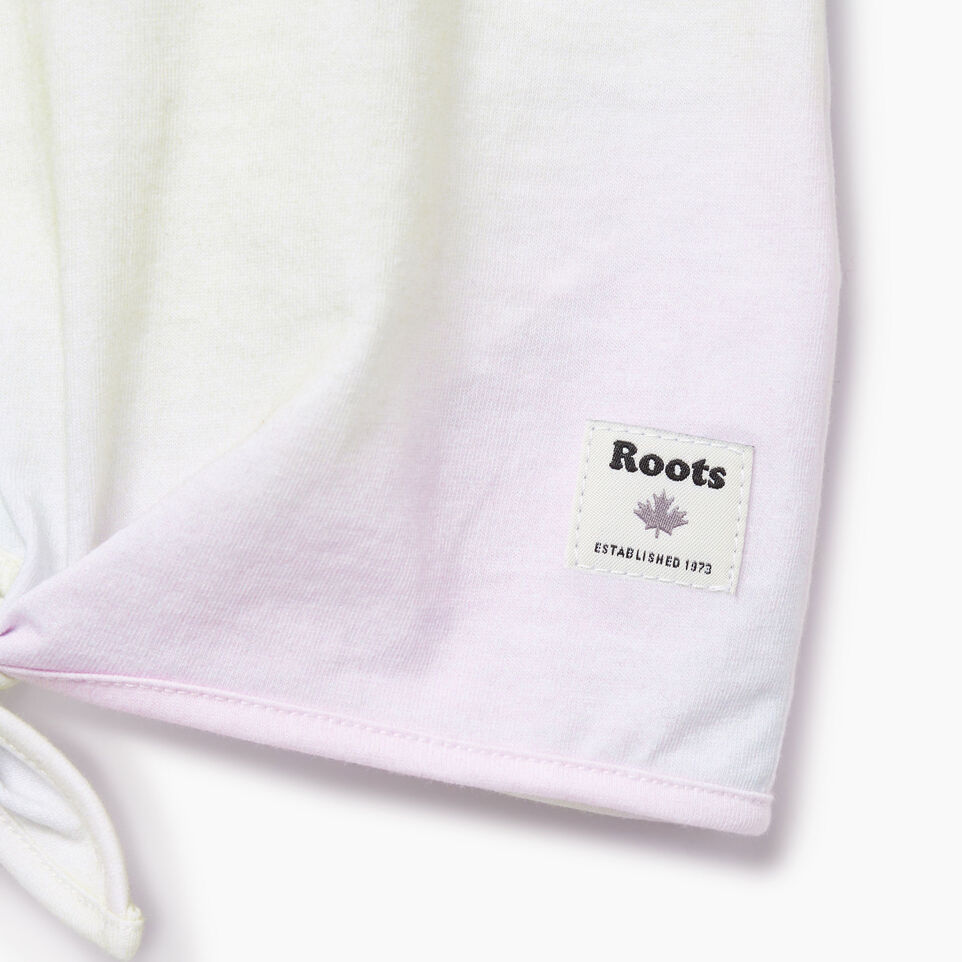 Roots-Kids Our Favourite New Arrivals-Toddler Watercolour Tie T-shirt-Ivory-E