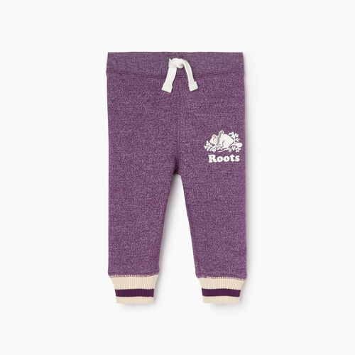 Roots-Kids Our Favourite New Arrivals-Baby Buddy Cozy Fleece Sweatpant-Grape Royale Pepper-A