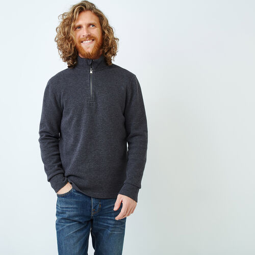 Roots-Men Categories-Hawthorne Mock Pullover Top-Charcoal Mix-A