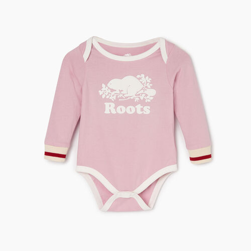 Roots-Kids Baby Girl-Baby Roots Cabin Bodysuit-Fragrant Lilac-
