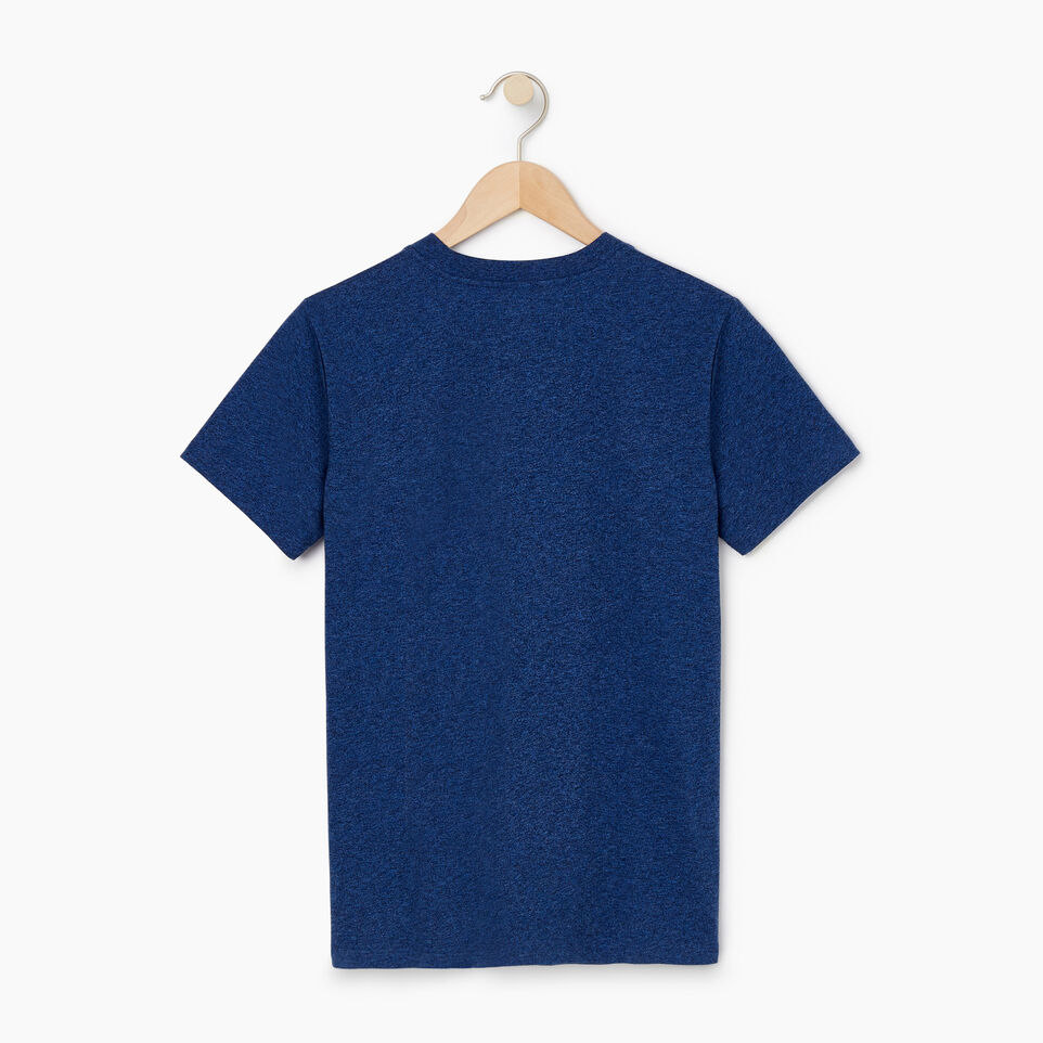 Roots-Women Clothing-Womens Classic Roots Canada T-shirt-Olympus Blue Mix-B