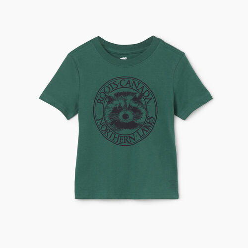 Roots-Kids Tops-Toddler Cooper Animal T-shirt-Hunter Green-A