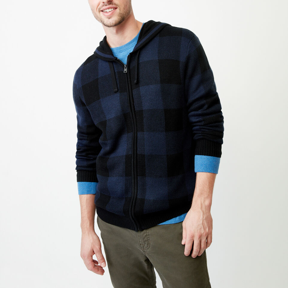 Roots-Winter Sale Men-Manitou Hooded Sweater-Navy Blazer-A