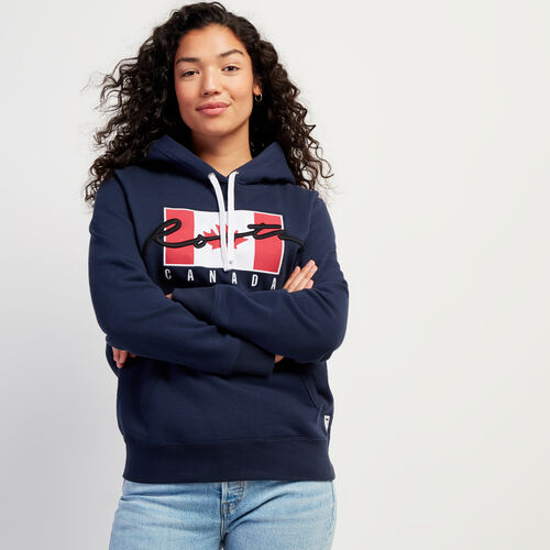Roots-New For November Script Collection - Additional 40% Off-Script Canada Hoody-Navy Blazer-A