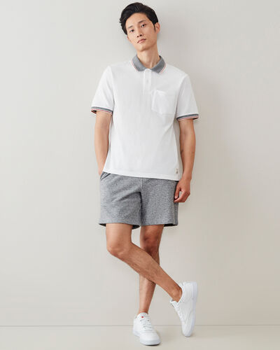 Roots-Men Shirts & Polos-Cabin Polo-Crisp White-A