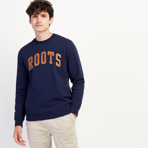 Roots-Gifts Gifts For Him-Roots Arch Crew Sweatshirt-Navy Blazer Mix-A