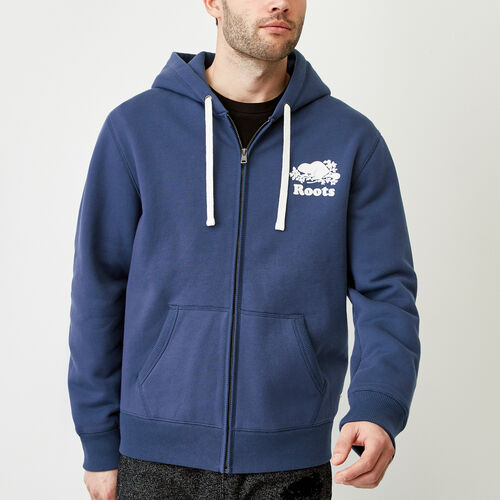 Roots-Men Bestsellers-Original Full Zip Hoody-Sargasso Sea-A