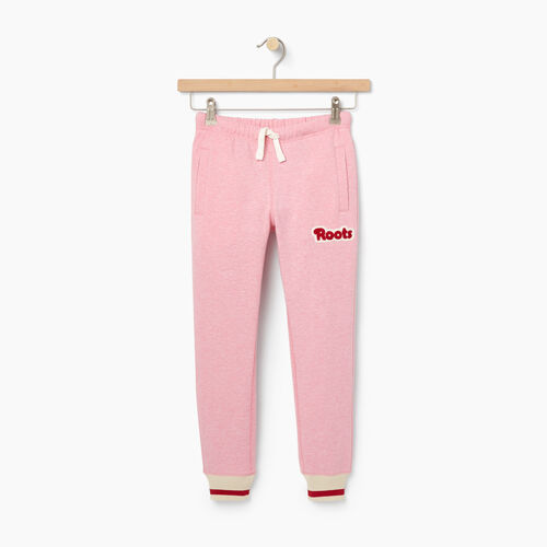 Roots-New For October Kids-Girls Cabin Sweatpant-Sea Pink Mix-A