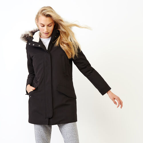 Roots-Women Outerwear-Portage Parka-Black-A