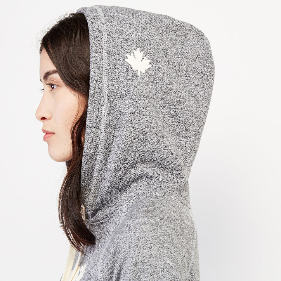 Roots-Women Clothing-Roots Salt and Pepper Original Kanga Hoody-Salt & Pepper-F
