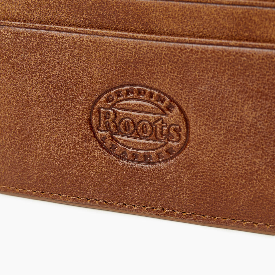 Roots-Women Categories-Card Holder-Champagne/ Natural-C