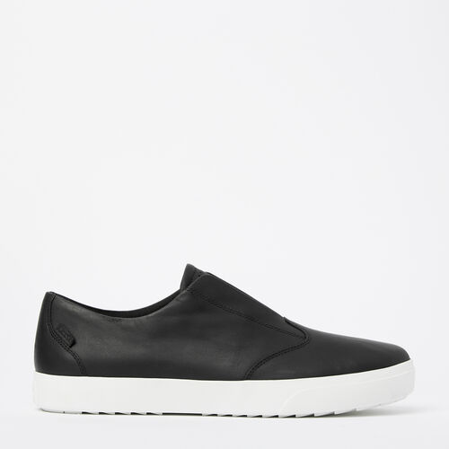 Roots-Clearance Men-Mens Valley Slip On-Black-A