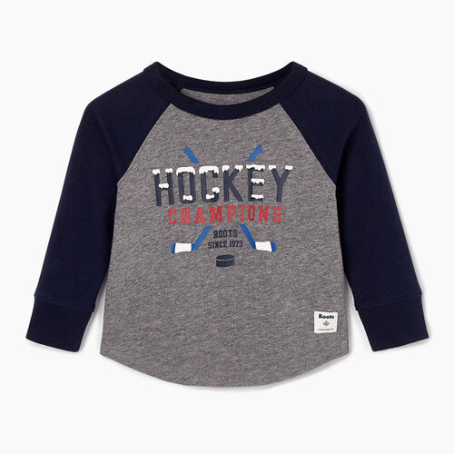 Roots-Sale Kids-Baby Hockey Raglan T-shirt-Navy Blazer-A