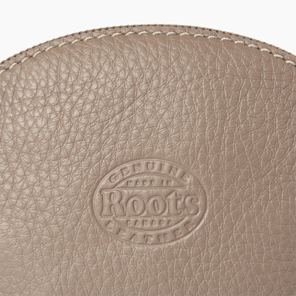 Roots-Leather Categories-Small Euro Pouch-Flint Grey-C