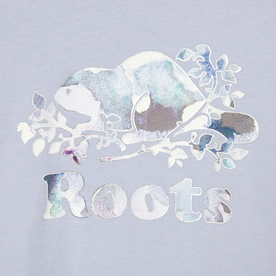 Roots-Kids Our Favourite New Arrivals-Girls Original Cooper Beaver T-shirt-Cosmic Sky-D