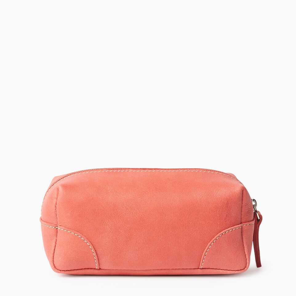 Roots-Leather Categories-Small Banff Pouch Tribe-Coral-B