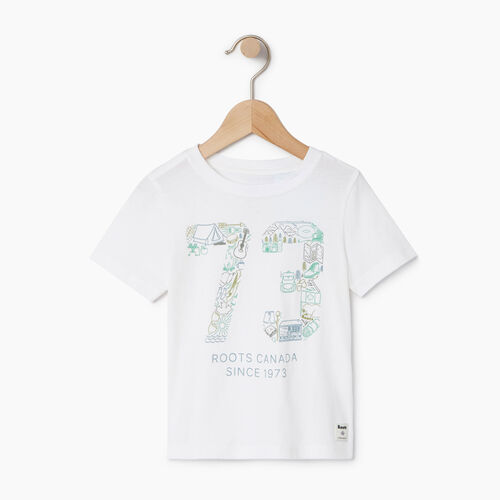 Roots-Clearance Kids-Toddler Roots Paddle T-shirt-Ivory-A