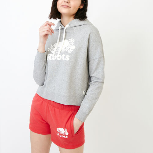 Roots-New For July Sweats-Melange Terry Hoody-Grey Mix-A