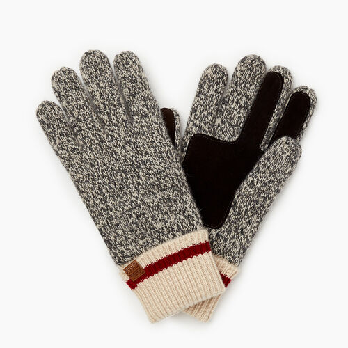 Roots-Gifts Accessory Sets-Womens Roots Cabin Glove-Grey Oat Mix-A