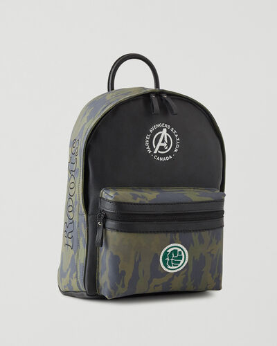 Roots-Leather Backpacks-Avengers Hulk Leather Backpack-Green Camo-A