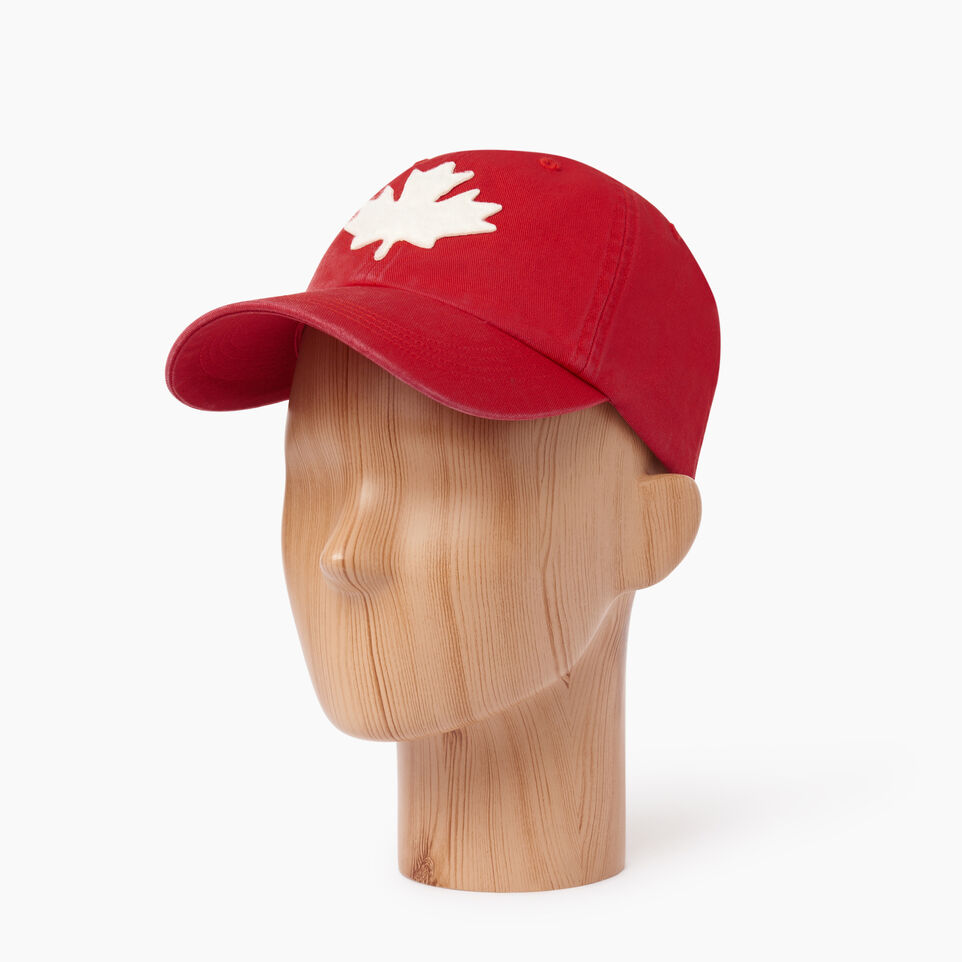 Roots-Men Our Favourite New Arrivals-Canada Leaf Baseball Cap-Red-B