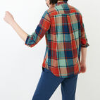 Roots-Women Our Favourite New Arrivals-All Seasons Relaxed Shirt-Jaffa Orange-D