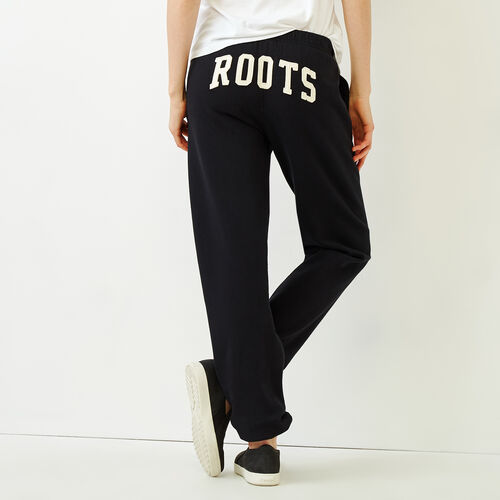 Roots-Women Sweatpants-Original Boyfriend Sweatpant-Black-A