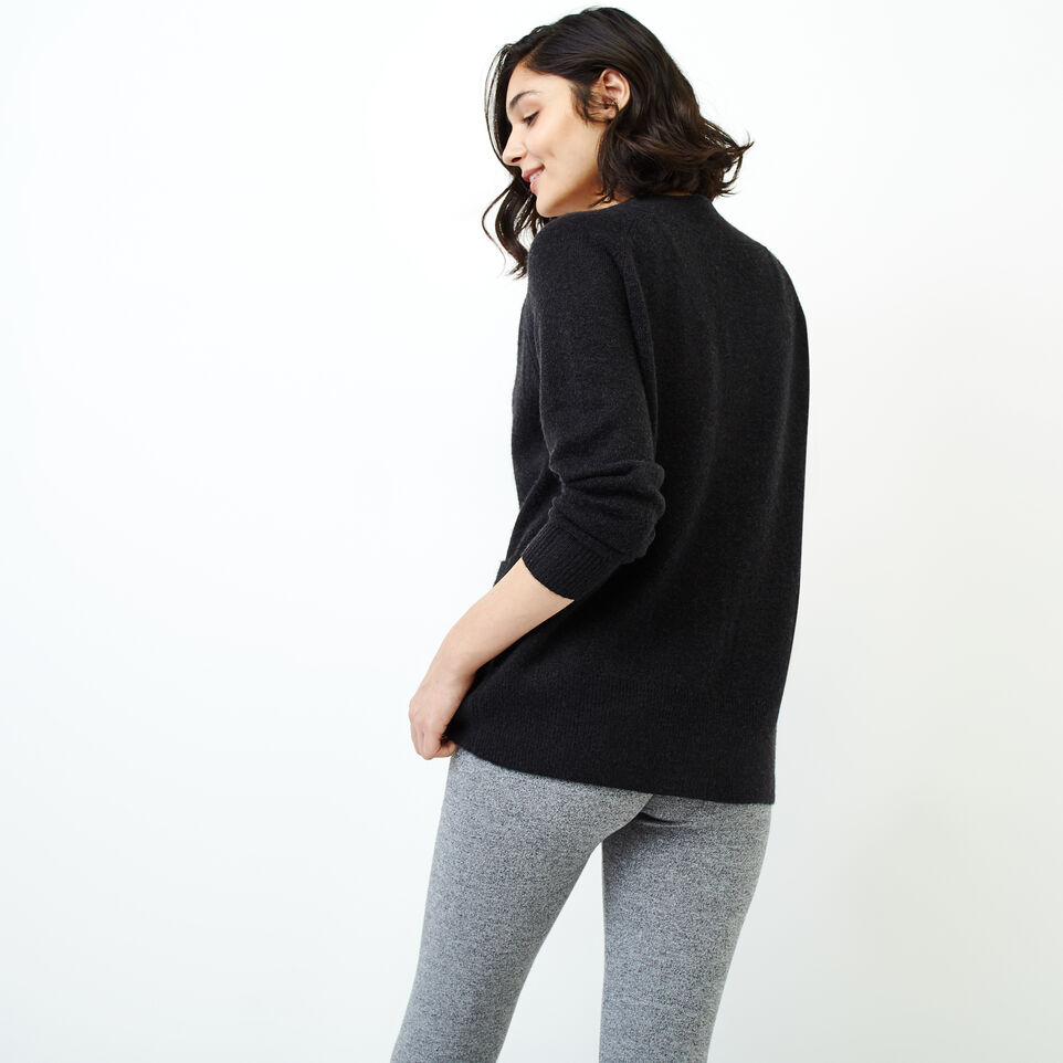 Roots-Women Our Favourite New Arrivals-Hemlock Button Cardigan-Black Mix-D