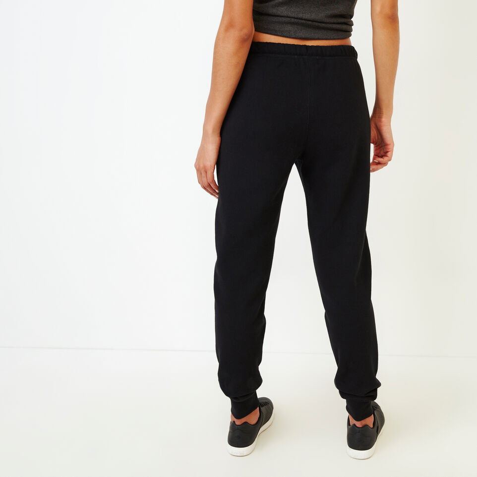 Roots-Women Categories-Original Slim Cuff Sweatpant-Black-D