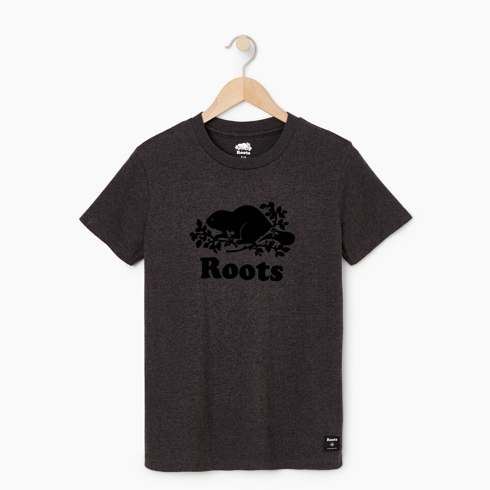 Roots-New For May Women-Womens Cooper Beaver T-shirt-Black Pepper-A