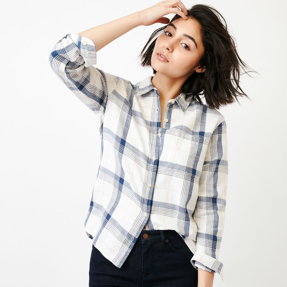 Roots-Women Our Favourite New Arrivals-All Seasons Relaxed Shirt-Wind Chime-A