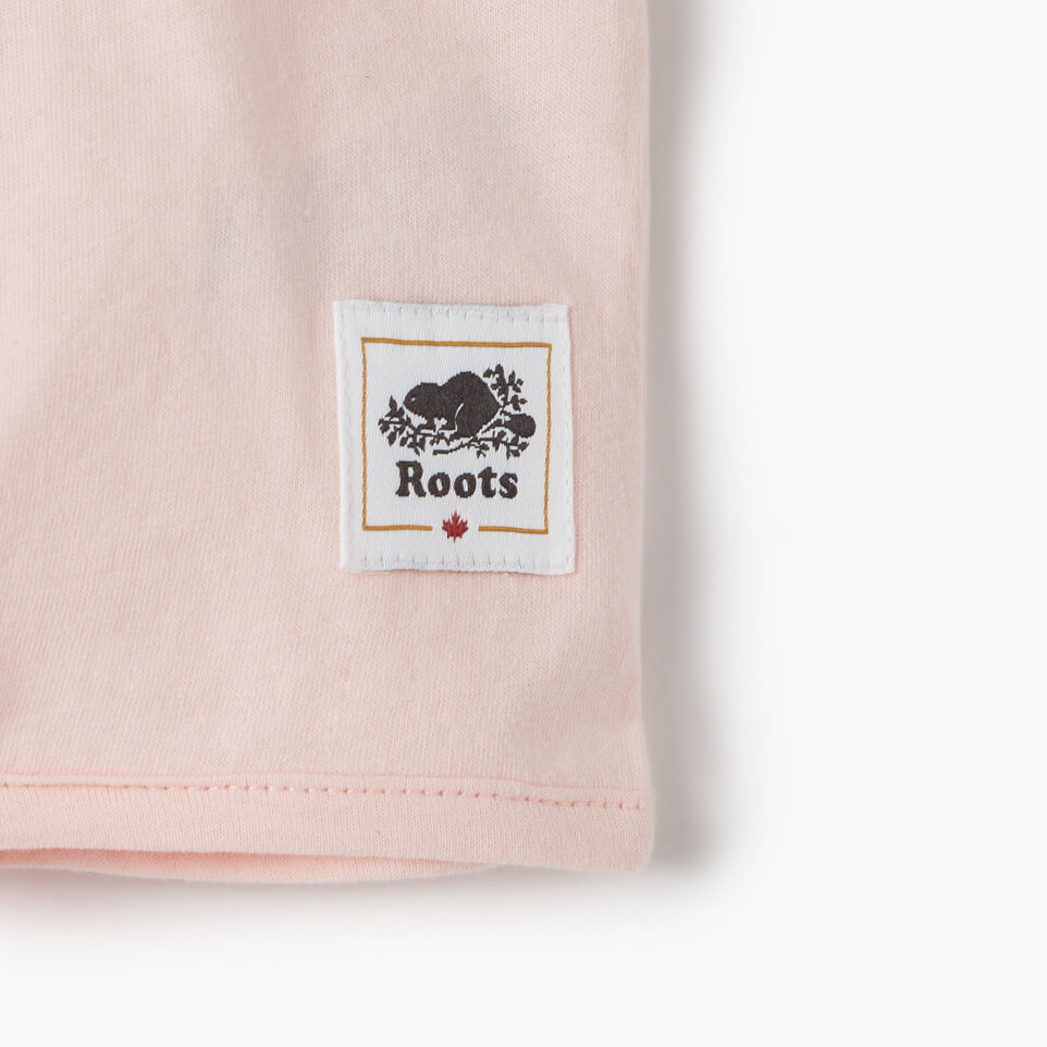 Roots-Kids New Arrivals-Baby Canada Tie T-shirt-English Rose-D