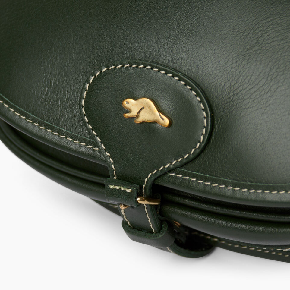 Roots-Leather  Handcrafted By Us Handbags-Medium English Saddle Heritage-Hunter Green-E