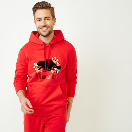 Roots-Men Tops-Lunar New Year Slim Kanga Hoody-Racing Red-A
