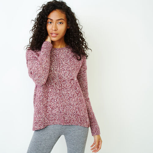Roots-Women Our Favourite New Arrivals-Moss Crew Sweater-Purple Potion Mix-A