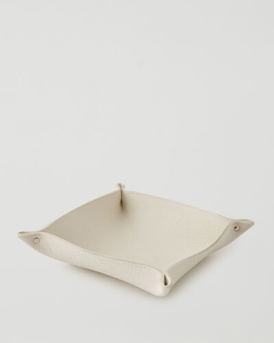 Roots-Leather Leather Accessories-Large Leather Tray Cervino-Ivory-A