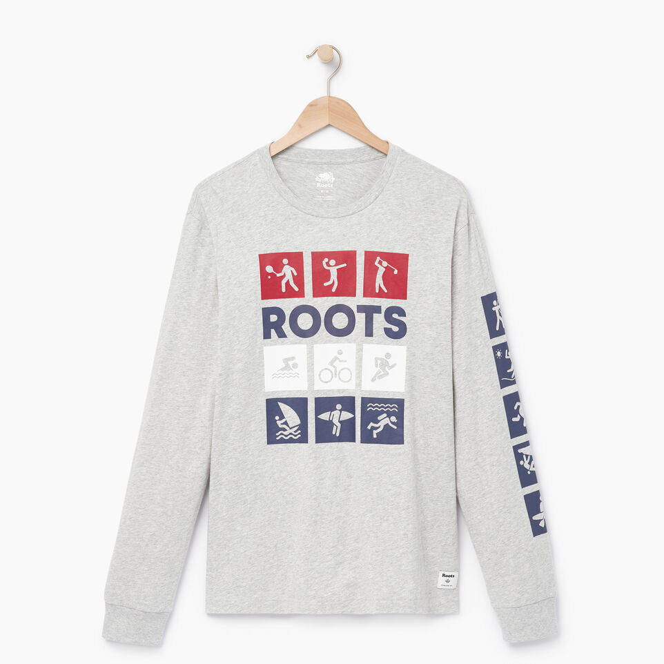Roots-Men Our Favourite New Arrivals-Mens Roots Outdoors Long Sleeve-Grey Mix Pepper-A