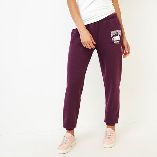 Roots-Women Categories-Classic Boyfriend Sweatpant-Pickled Beet Mix-A