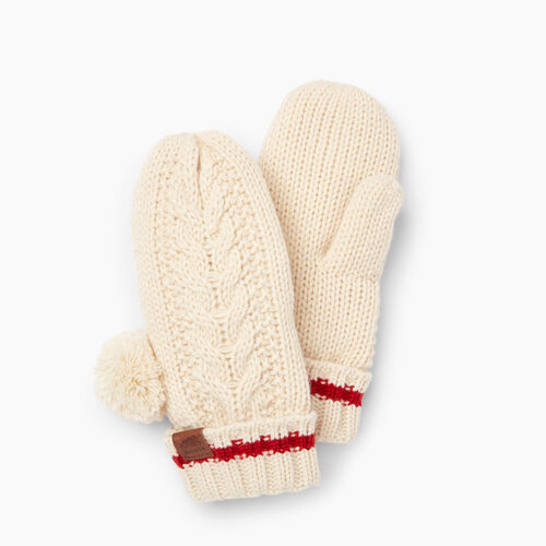 Roots-Clearance Kids-Girls Liscomb Mitt-Light Fog-A