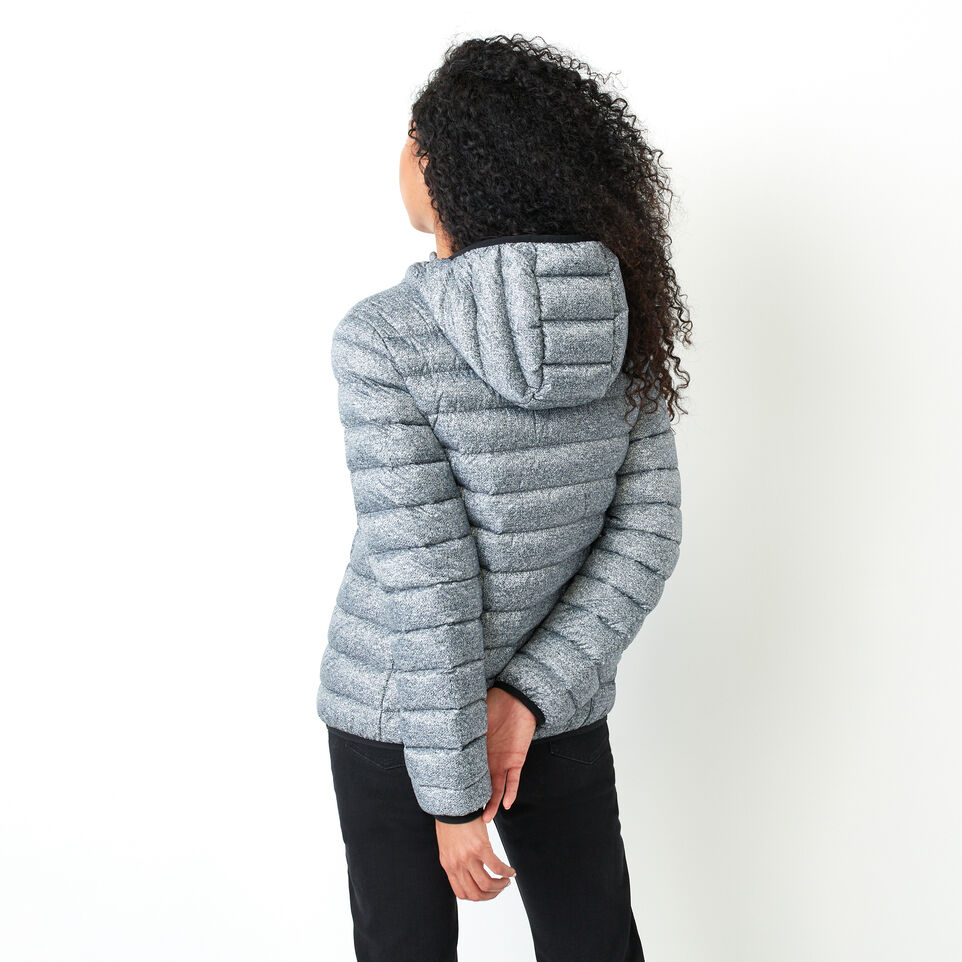 Roots-Women Outerwear-Roots Packable Down Jacket-Salt & Pepper-D