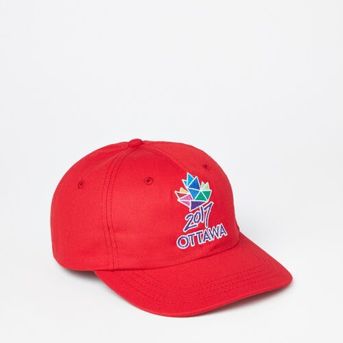 Roots-Sale Accessories-Ottawa 2017 Baseball Cap-Sage Red-A
