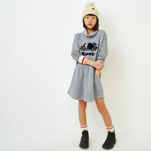 Roots-Kids Our Favourite New Arrivals-Girls Buddy Cozy Fleece Dress-Salt & Pepper-A