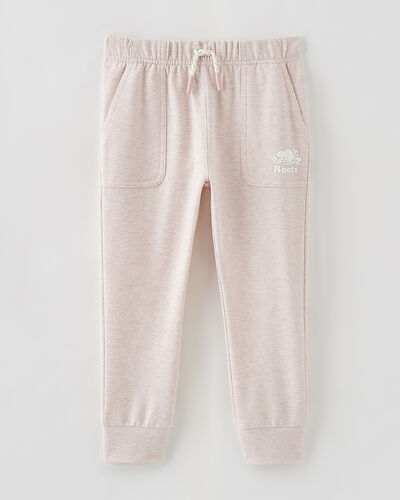 Roots-Sweats Toddler Girls-Toddler Woodland Slim Jogger-Pale Mauve Mix-A
