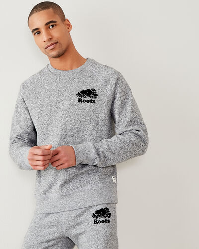 Roots-Men Sweatshirts & Hoodies-Original Crew Sweatshirt-Salt & Pepper-A