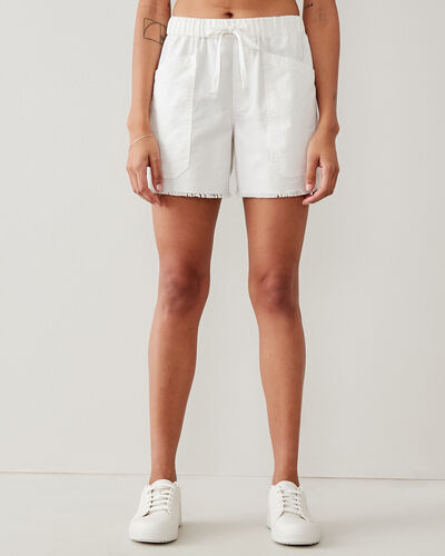 Roots-Shorts Women-Margaree Pocket Short 5.5 In-White-A