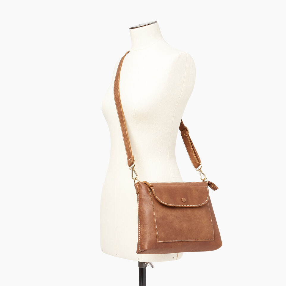 Roots-Leather  Handcrafted By Us Our Favourite New Arrivals-Richmond Crossbody-Natural-B
