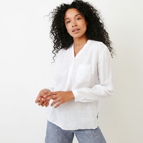 Roots-Women Shirts-Camrose Top-White-A