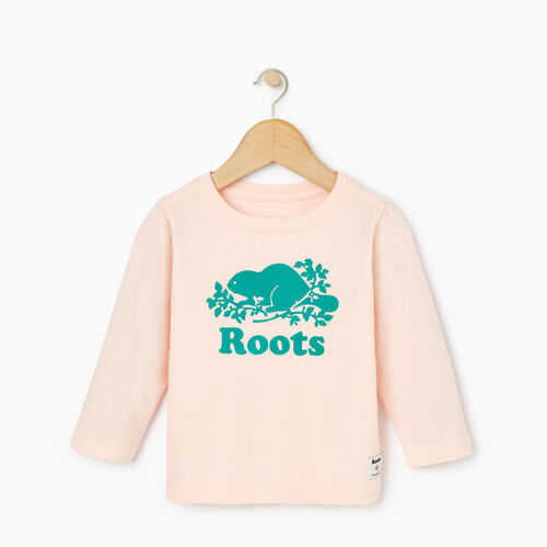 Roots-Sale Kids-Baby Original Cooper Beaver T-shirt-English Rose-A